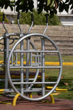 Outdoor excercise object. Outdoor gym excercise object in the park Royalty Free Stock Images