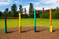Outdoor Exercise Bars Royalty Free Stock Photography
