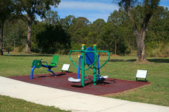 Outdoor Exercise Equipment. In a park Stock Photography
