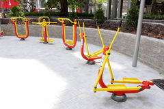 Outdoor Exercise Equipment. In Park Stock Images