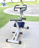 Outdoor exercise machine Stock Photo