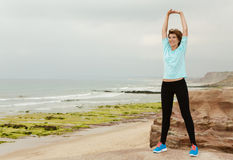 Outdoor exercises Stock Images