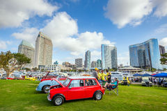 Outdoor Exhibition of  retro cars at Embarcadero Marina Park Nor Royalty Free Stock Images