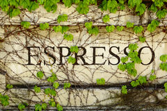 Outdoor Expresso Sign Royalty Free Stock Photos