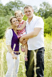 Outdoor family portrait Stock Image