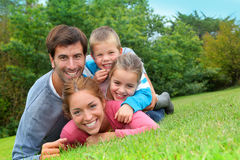 Outdoor family portrait Royalty Free Stock Image