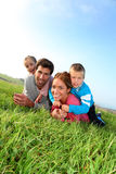 Outdoor family portrait royalty free stock images