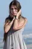 Outdoor fashion shoot royalty free stock image