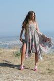 Outdoor fashion shoot stock image