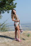 Outdoor fashion shoot Royalty Free Stock Images