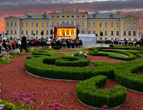 Outdoor festival of ancient music in public museum of Rundale palace, Pilsrundale, Latvia Stock Image