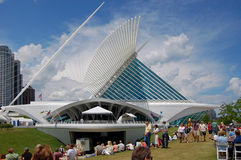 Outdoor Festival at Milwaukee Art Museum Royalty Free Stock Image