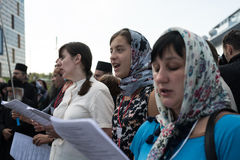 Outdoor Festival of Orthodox singing Stock Photography