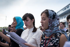 Outdoor Festival of Orthodox singing Royalty Free Stock Image