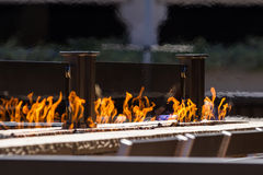 Outdoor fire accents Royalty Free Stock Photography
