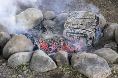 Outdoor Fire Pit Royalty Free Stock Images