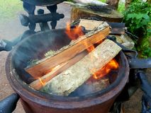Outdoor fire place Stock Photo