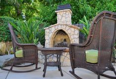 Outdoor Fireplace Royalty Free Stock Image