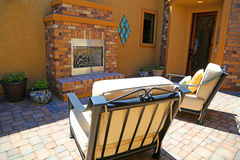 Outdoor fireplace Royalty Free Stock Images