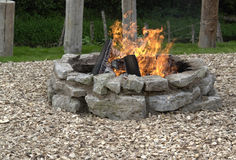 Outdoor fireplace royalty free stock photo