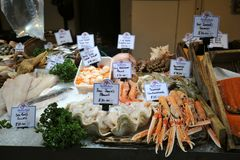 Fish market  in London east at Borough Market Royalty Free Stock Photography