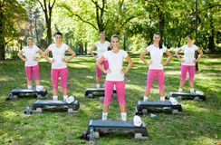 Outdoor fitness class Royalty Free Stock Photo
