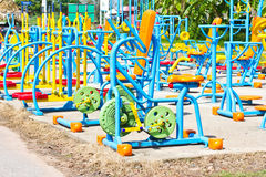 Outdoor fitness equipment. Royalty Free Stock Photos