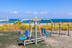 Outdoor fitness equipment. Stock Photo