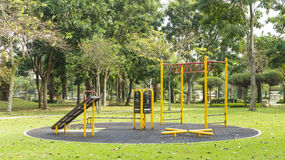 Outdoor fitness equipment. Stock Photography