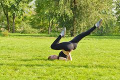 Outdoor fitness, fashion, workout, health concept. royalty free stock image