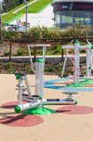 Outdoor fitness machines Royalty Free Stock Photography