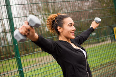 Outdoor fitness Royalty Free Stock Photos
