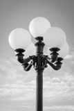 Outdoor, Five-Bulb Light Post (B/W) Royalty Free Stock Image