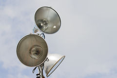 Outdoor flood lights Royalty Free Stock Photo