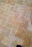 Outdoor Floor Tile Zigzag Pattern stock photography