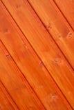 Outdoor floorboard. With orange color in diagonal line Royalty Free Stock Photos