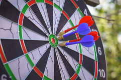outdoor flying darts game royalty free stock photos