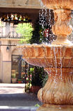 Outdoor Fountain. Ornate sculpted outdoor water fountain Royalty Free Stock Images