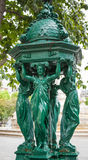 Outdoor fountain near Saint-Sulpice, Paris Stock Images