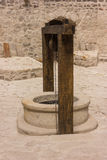 Outdoor fountain in old fortress in Soroca, Moldova. Old fortress in Soroca,situated on Nistru river, Moldova Royalty Free Stock Photos