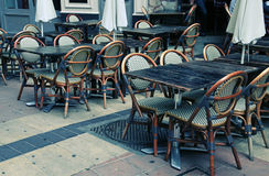 Outdoor french cafe in Old Town of Nice, France Royalty Free Stock Photos