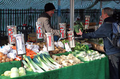 Outdoor fruit and vegetable market. Stock Photos