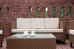Outdoor furniture Stock Images