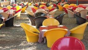 Outdoor furniture in garden Stock Photography