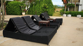 Outdoor furniture for relax Royalty Free Stock Photography