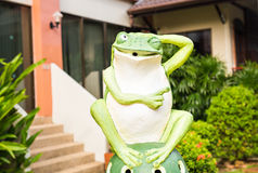 Outdoor Garden Decoration Statue, Frog Royalty Free Stock Photo