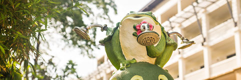 Outdoor Garden Decoration Statue, Frog Stock Photography