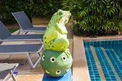 Outdoor Garden Decoration Statue, Frog Stock Images