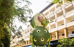 Outdoor Garden Decoration Statue, Frog Stock Photos
