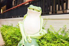 Outdoor Garden Decoration Statue, Frog Royalty Free Stock Photography
